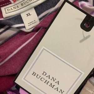 Tops - Dana Bachman multi purple striped blouse Sz XL